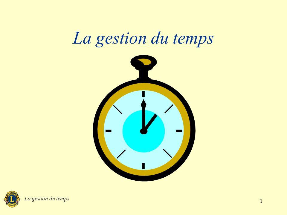 La gestion du temps 1
