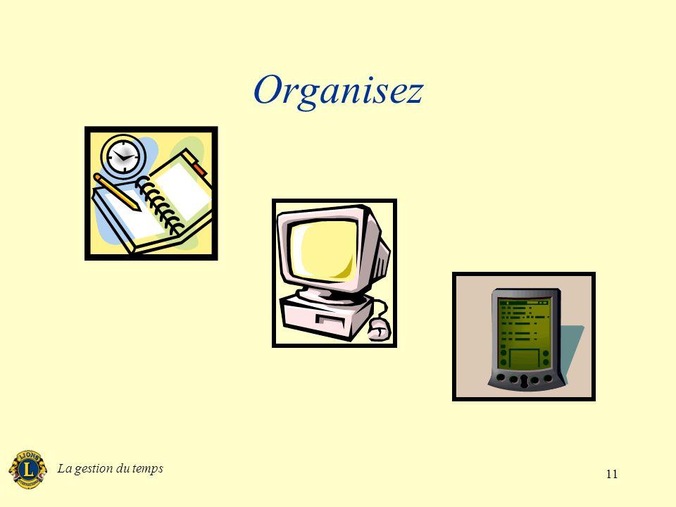 La gestion du temps 11 Organisez