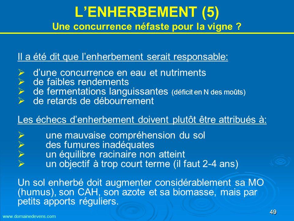 49 LENHERBEMENT (5) Une concurrence néfaste pour la vigne .