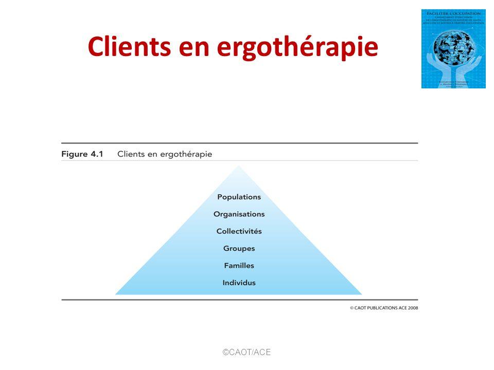 Clients en ergothérapie ©CAOT/ACE