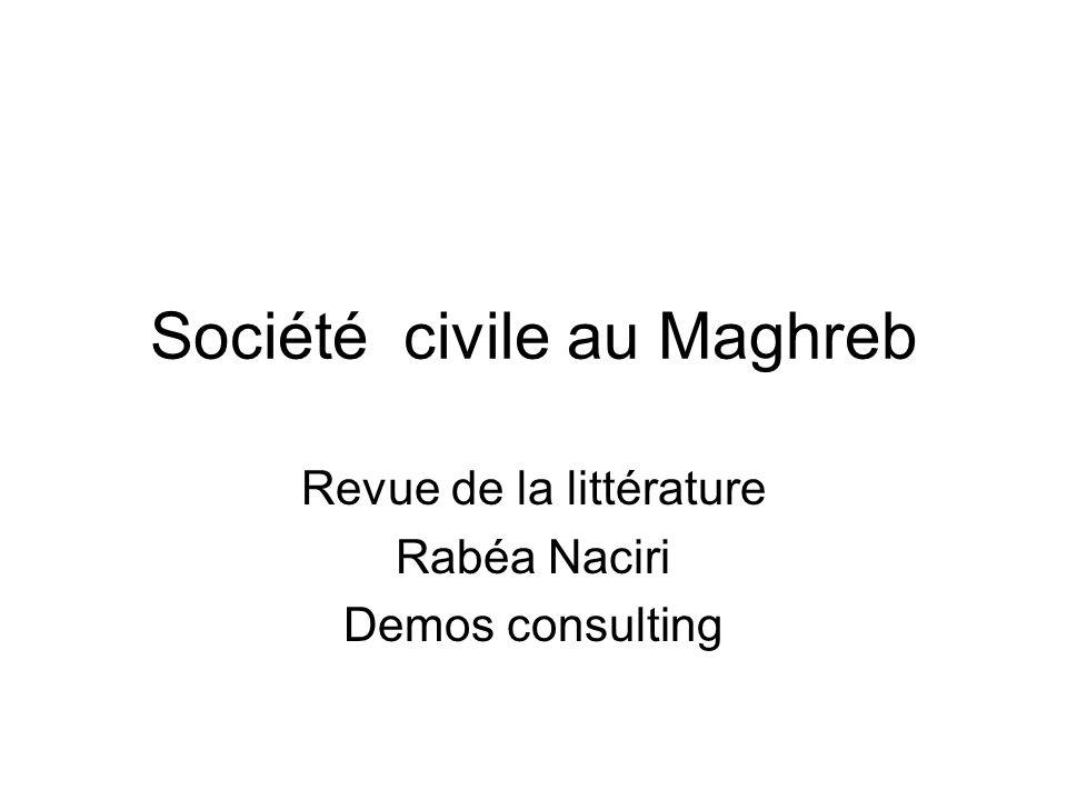 Société civile au Maghreb Revue de la littérature Rabéa Naciri Demos consulting