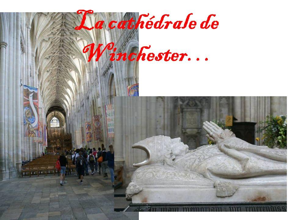 La cathédrale de Winchester…