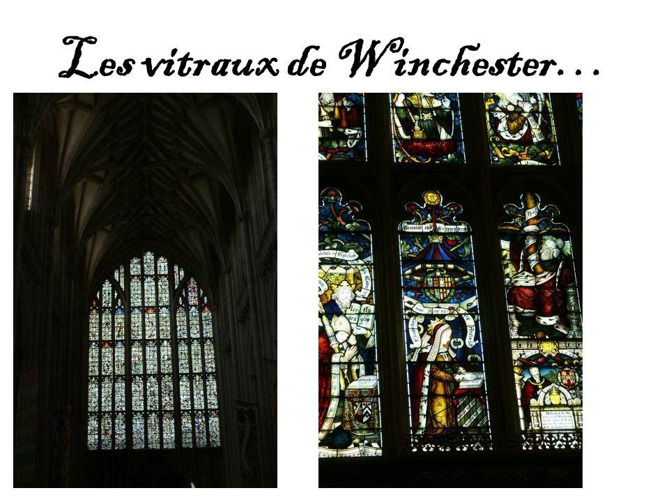 Les vitraux de Winchester…