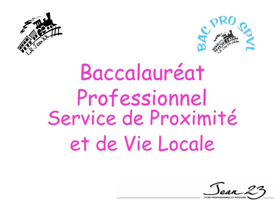 Baccalauréat Professionnel Service de Proximité et de Vie Locale