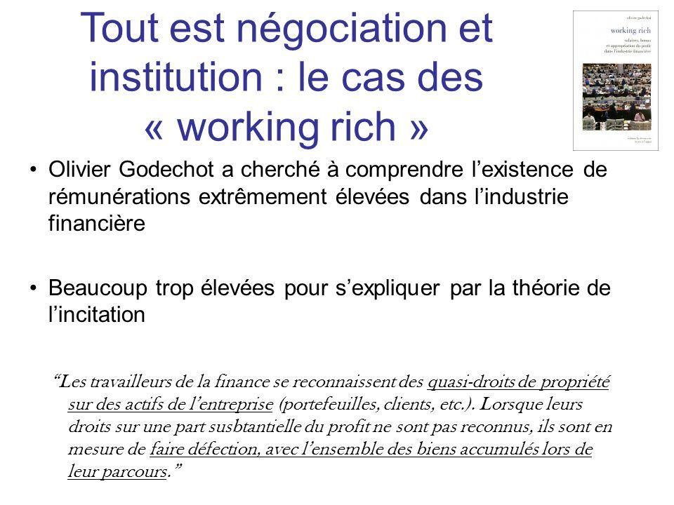 Olivier Godechot a cherché à comprendre lexistence de rémunérations extrêmement élevées dans lindustrie financière Beaucoup trop élevées pour sexpliqu