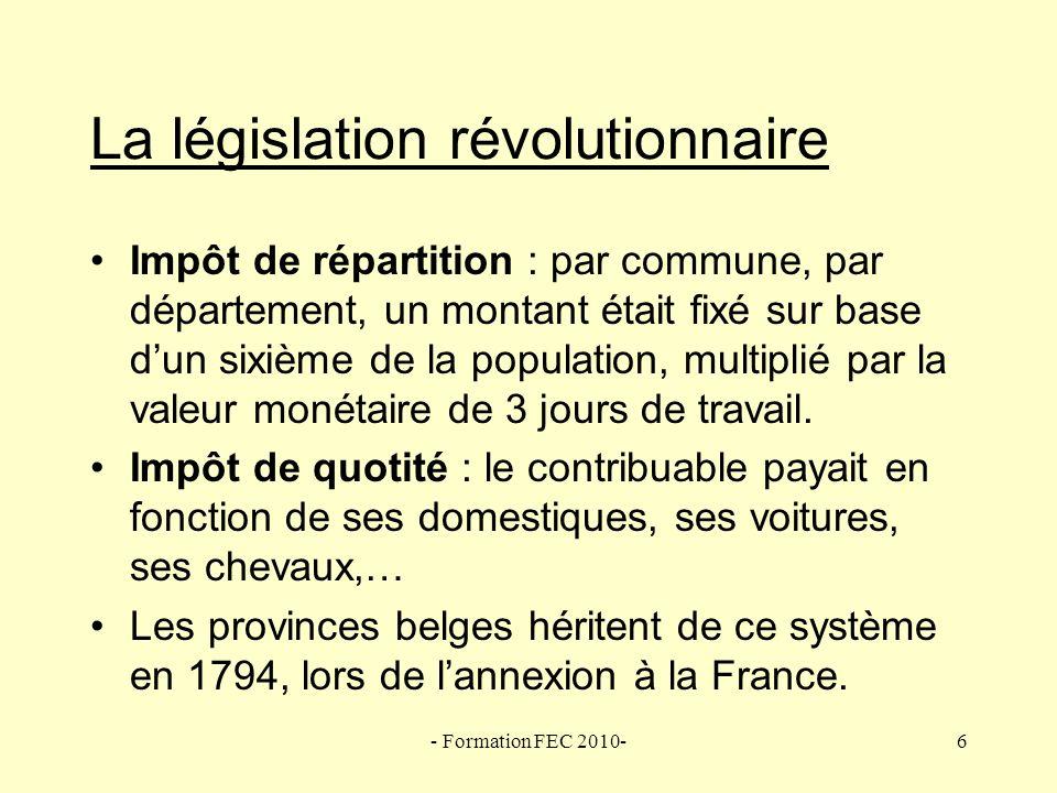 - Formation FEC 2010-27 1962 : Principes de la réforme « Les instruments fiscaux, désuets, compliqués, peu équitables et inefficaces que nous connaissons aujourdhui doivent être remplacés pas un système fiscal moderne.