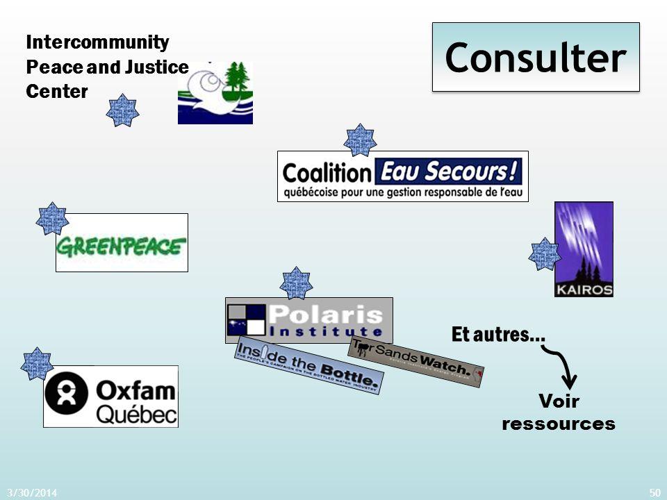 3/30/201450 Consulter Intercommunity Peace and Justice Center Et autres… Voir ressources