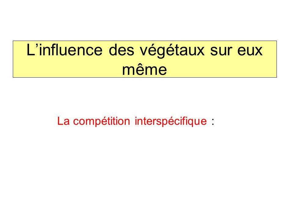 La compétition interspécifique :