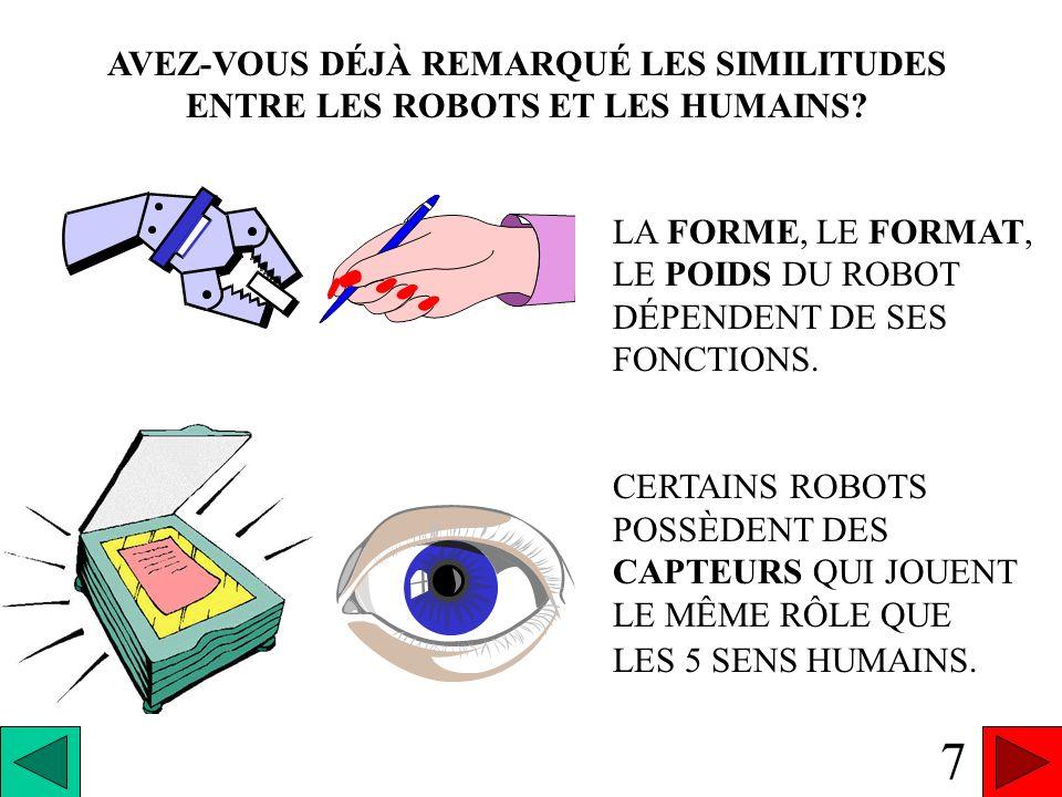 PREMIÈRE CARACTÉRISTIQUE DUN ROBOT LE CORPS TOUT CE QUI COMPOSE LES CARACTÉRISTIQUES PHYSIQUES DU ROBOT 6
