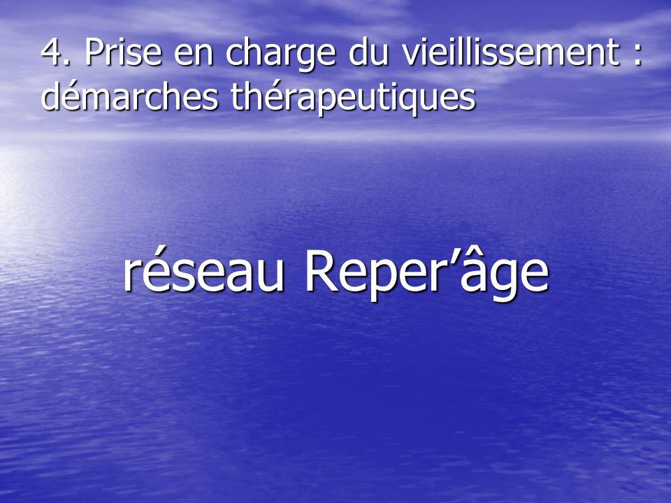 4. Prise en charge du vieillissement : démarches thérapeutiques réseau Reperâge