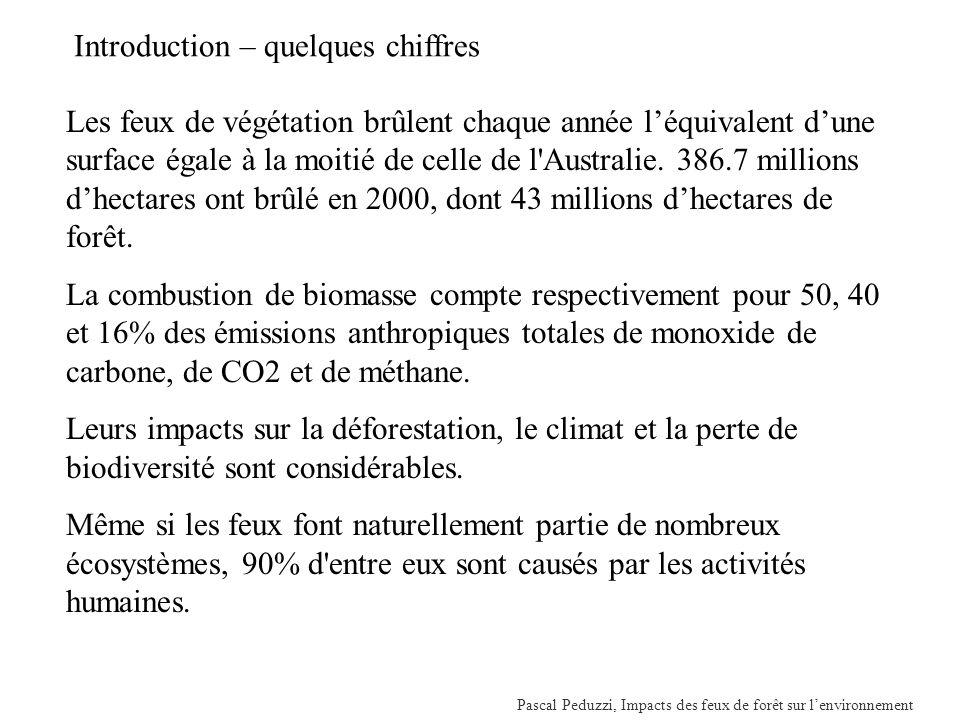 Pascal Peduzzi, Impacts des feux de forêt sur lenvironnement SIG et cartographie, P.