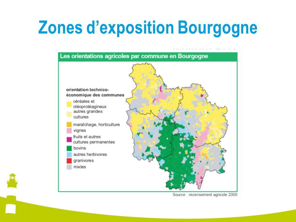 Zones dexposition Bourgogne
