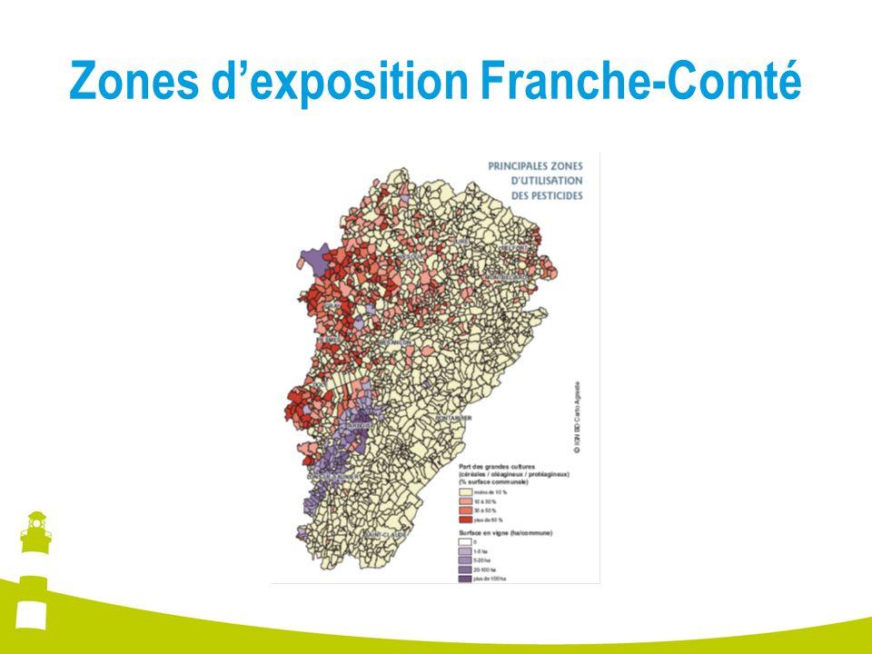 Zones dexposition Franche-Comté