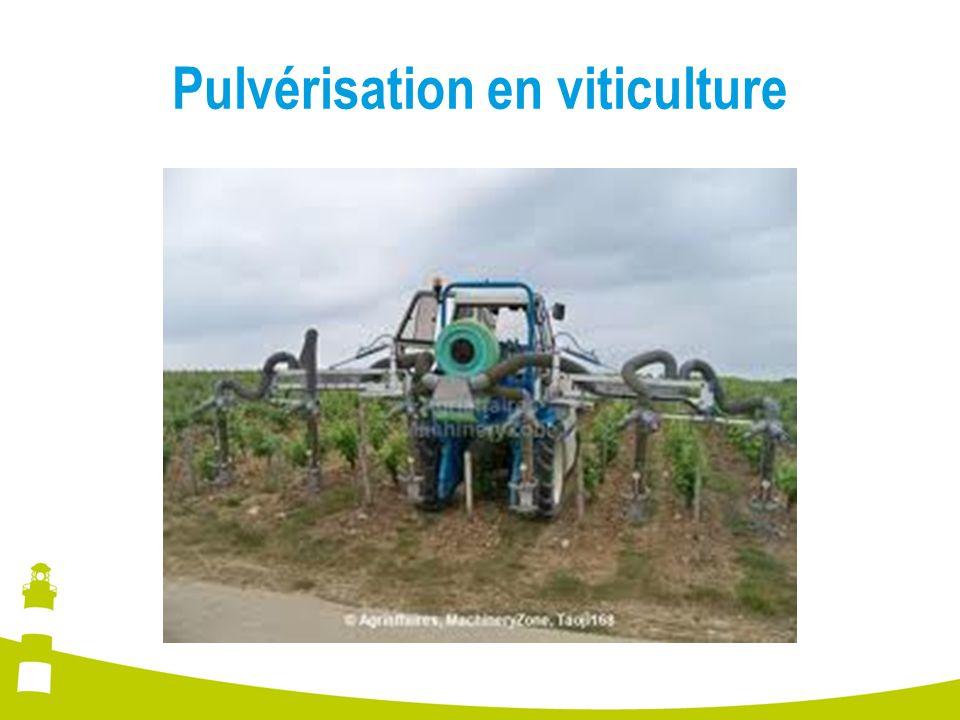 Pulvérisation en viticulture