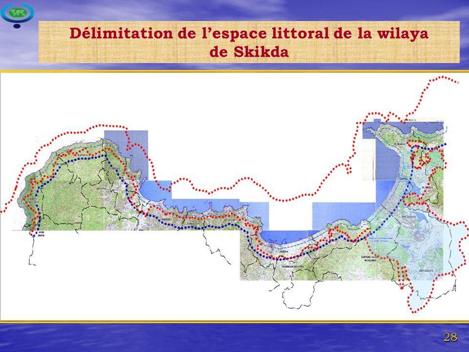 28 Délimitation de lespace littoral de la wilaya de Skikda