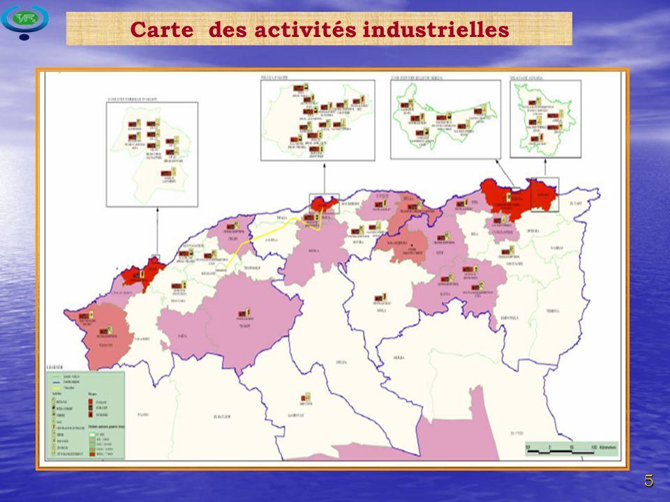 5 Carte des activités industrielles