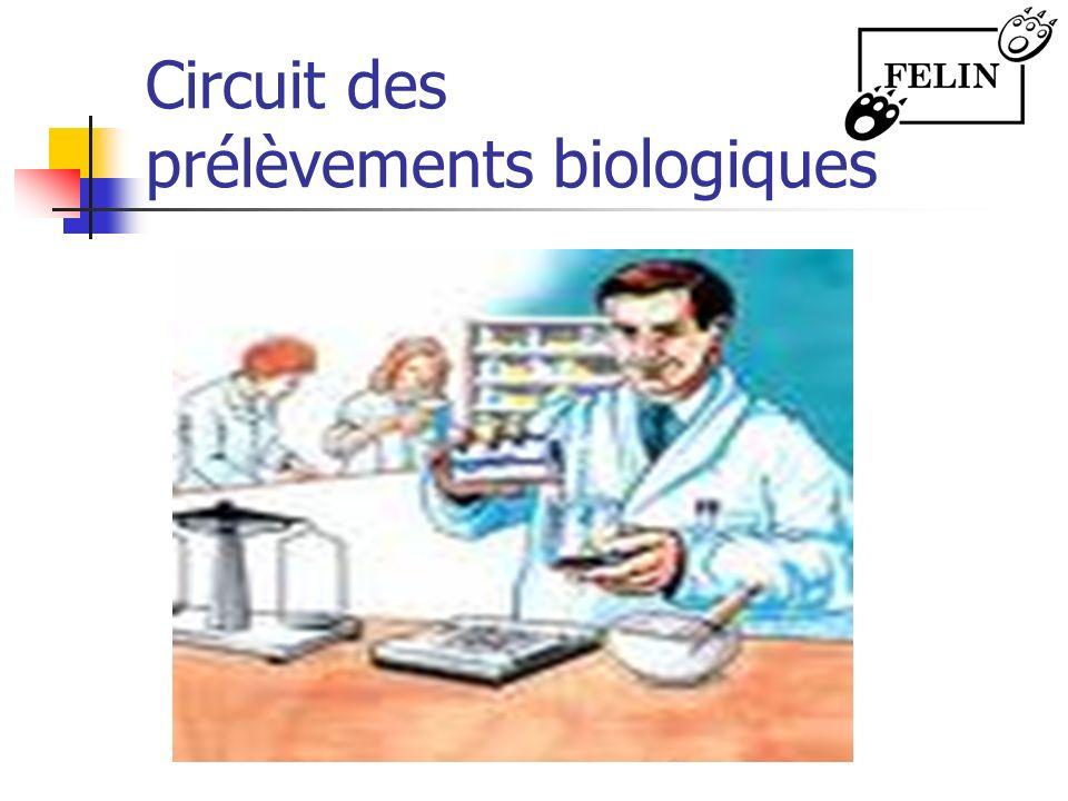 Circuit des prélèvements biologiques