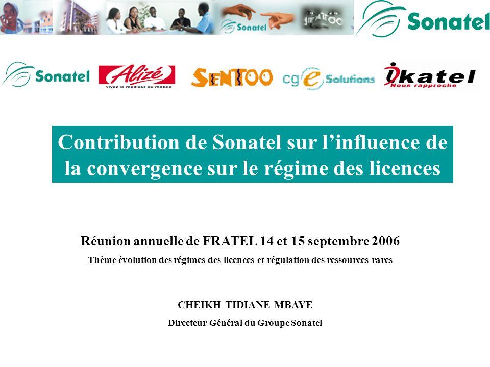 Présentation Cheikh Tidiane MBAYE DG SONATEL Séminaire FRATEL Merci