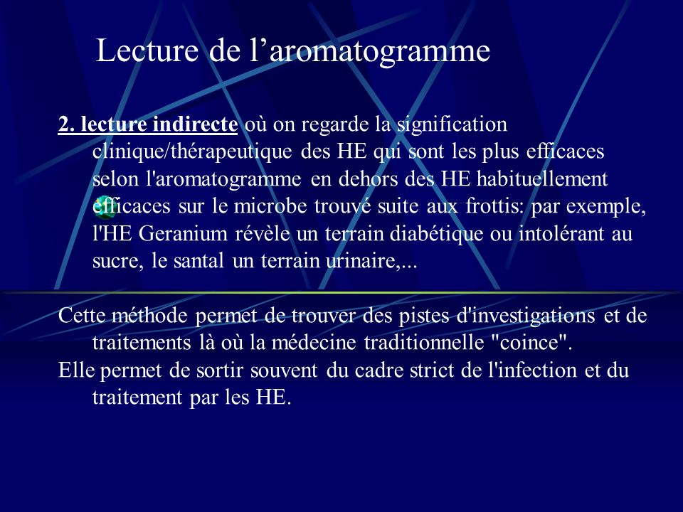 Lecture de laromatogramme 2.