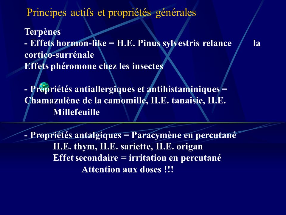 Terpènes - Effets hormon-like = H.E.