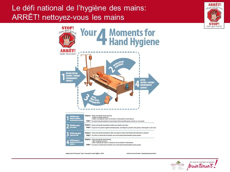 Le défi national de lhygiène des mains: ARRÊT! nettoyez-vous les mains