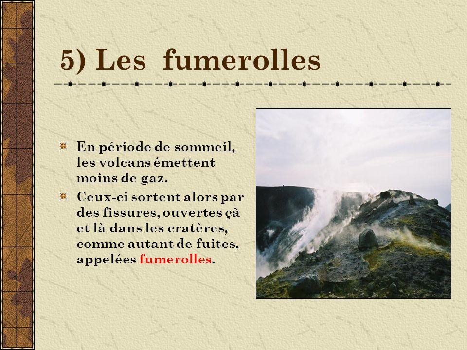6) Les cendres Avec les poussières, les cendres constituent les plus fines projections volcaniques.
