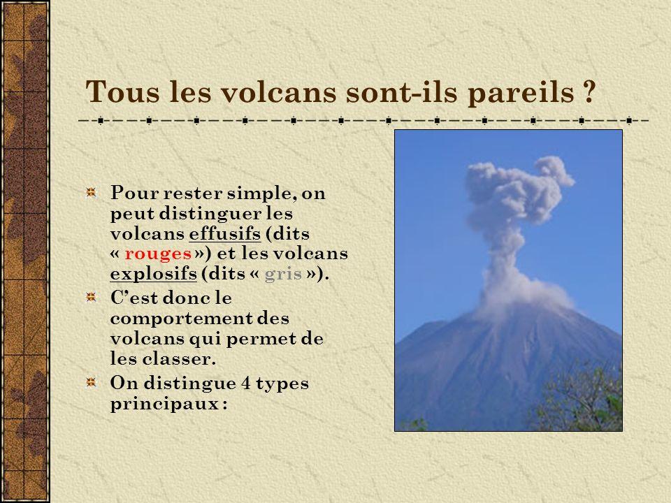 Tous les volcans sont-ils pareils .
