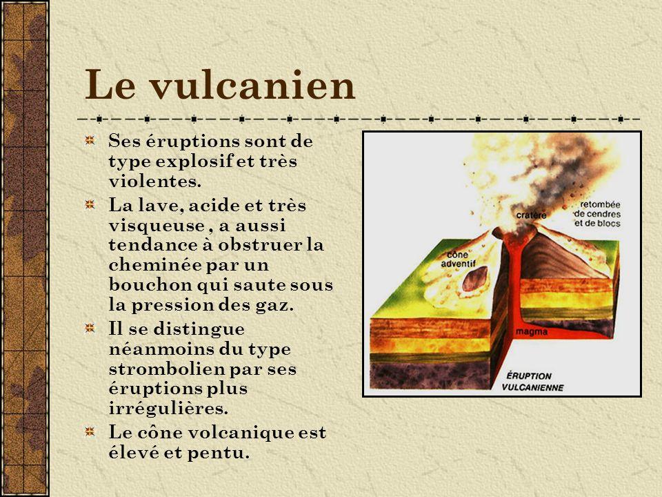 Le péléen Eruptions explosives au dernier degré.