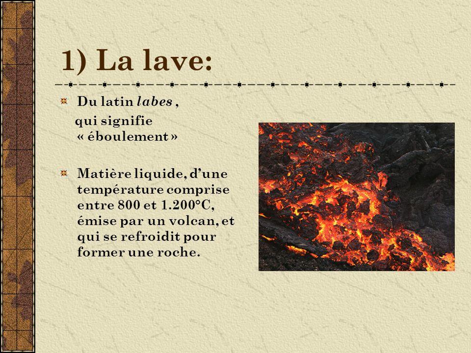 2) Les gaz Les volcans vomissent surtout de la vapeur deau, du gaz carbonique, de lhydrogène et des gaz sulfureux.