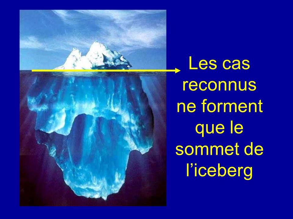 Les cas reconnus ne forment que le sommet de liceberg