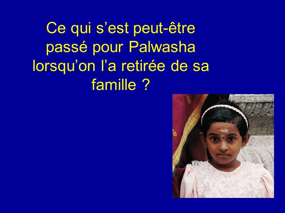 Ce qui sest peut-être passé pour Palwasha lorsquon la retirée de sa famille ?