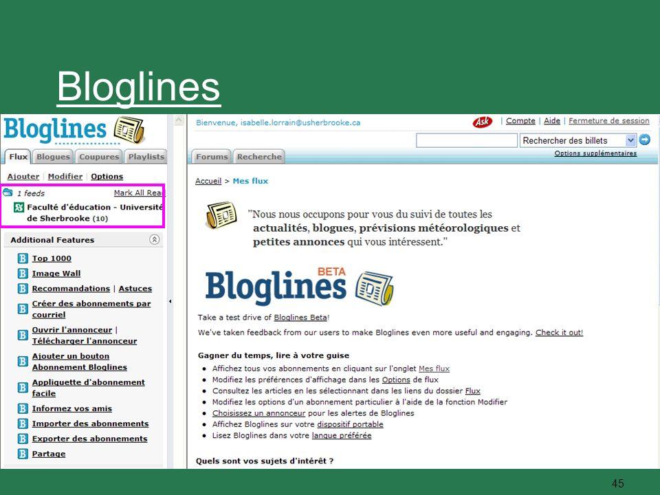 45 Bloglines