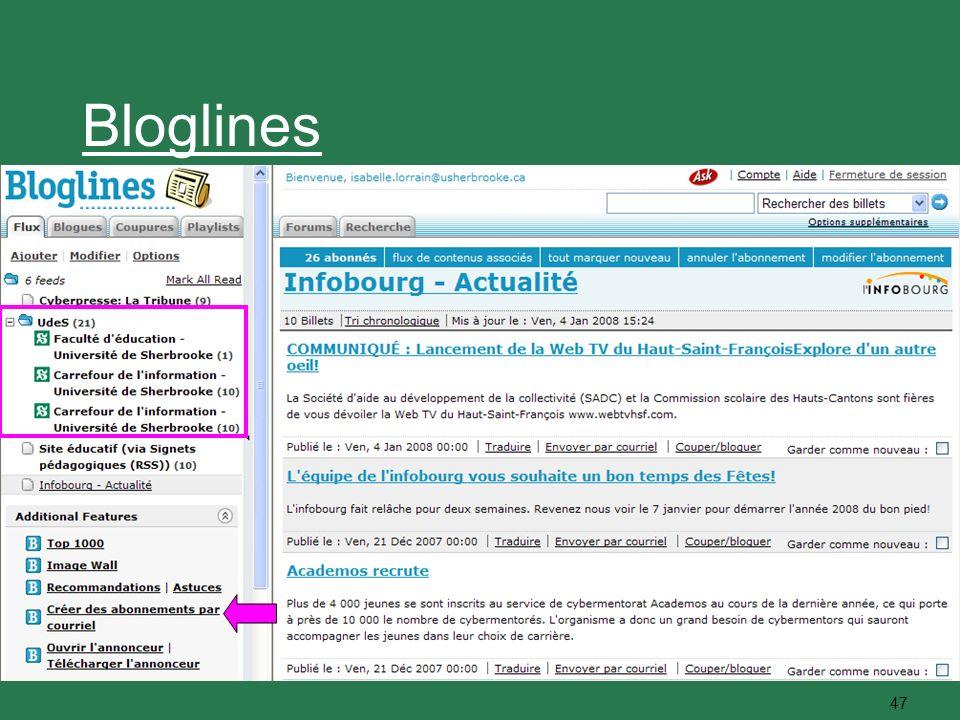 47 Bloglines