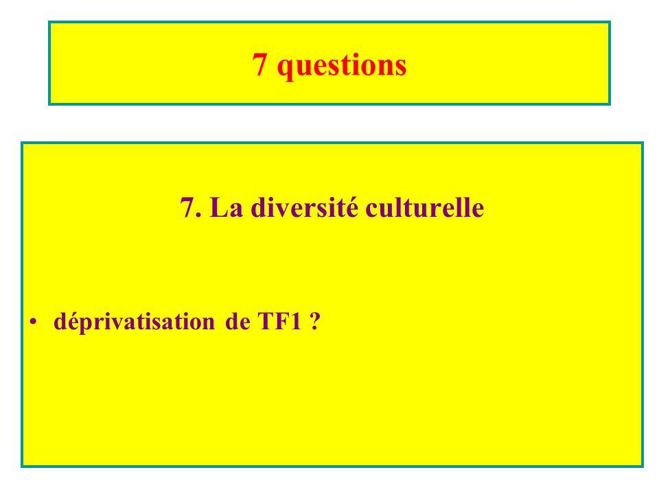7 questions 7. La diversité culturelle déprivatisation de TF1