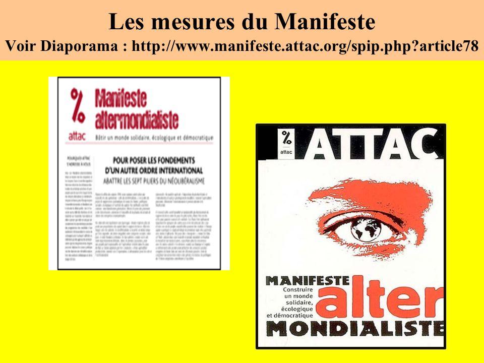 Les mesures du Manifeste Voir Diaporama : http://www.manifeste.attac.org/spip.php article78