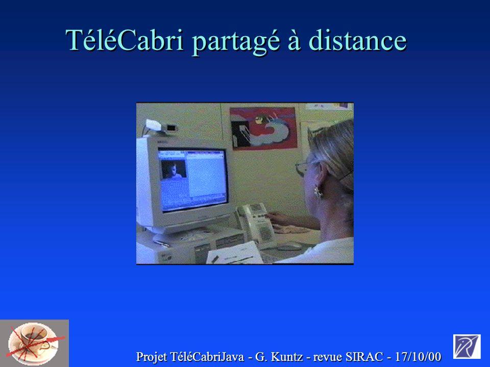 Projet TéléCabriJava - G. Kuntz - revue SIRAC - 17/10/00 TéléCabri partagé à distance