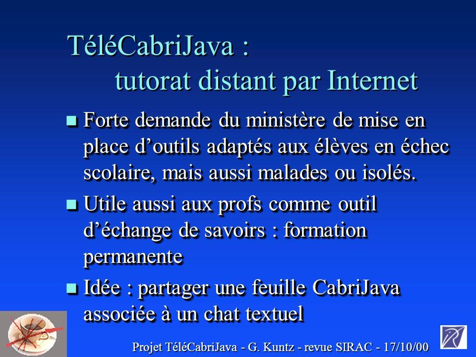 Projet TéléCabriJava - G.