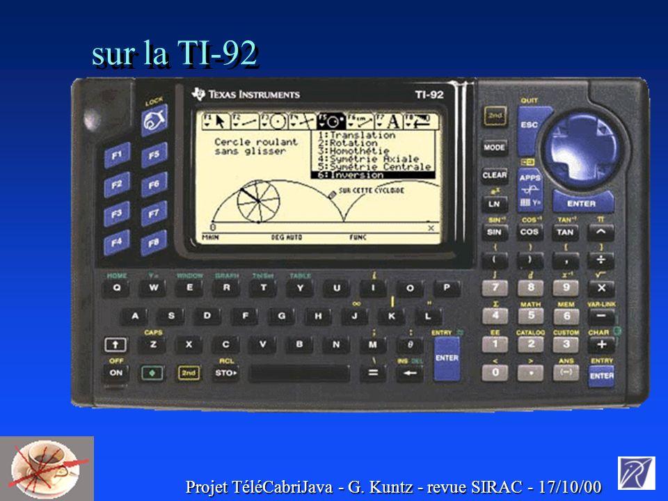 sur la TI-92 :