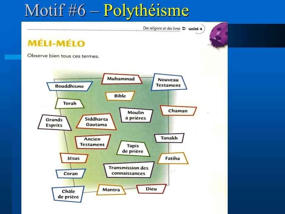 Motif #6 – Polythéisme