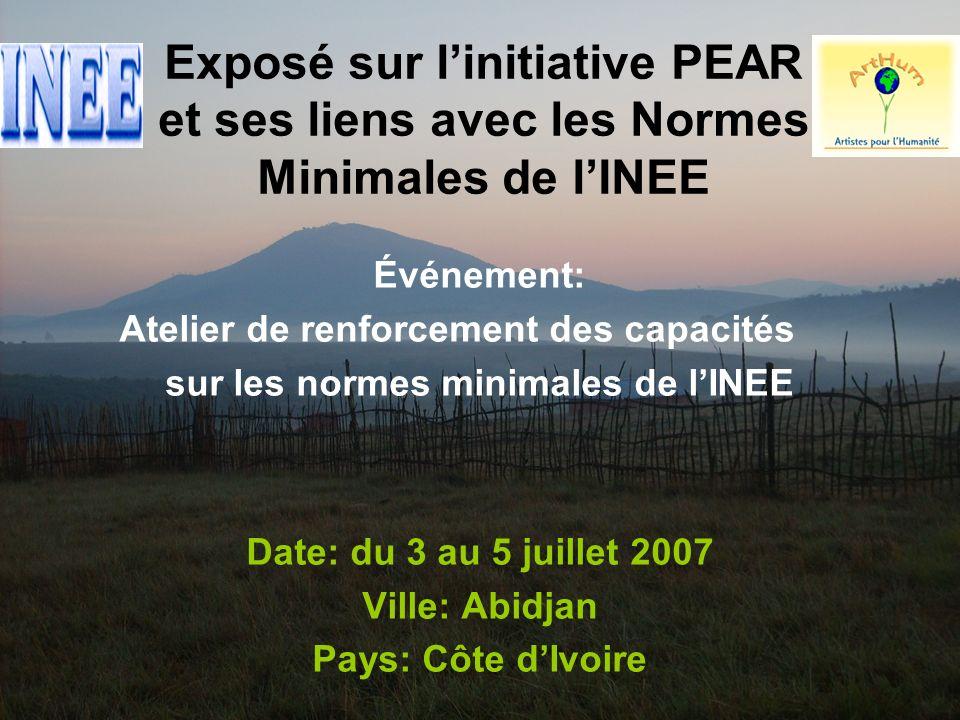 32 III.Information sur linitiative PEAR c.