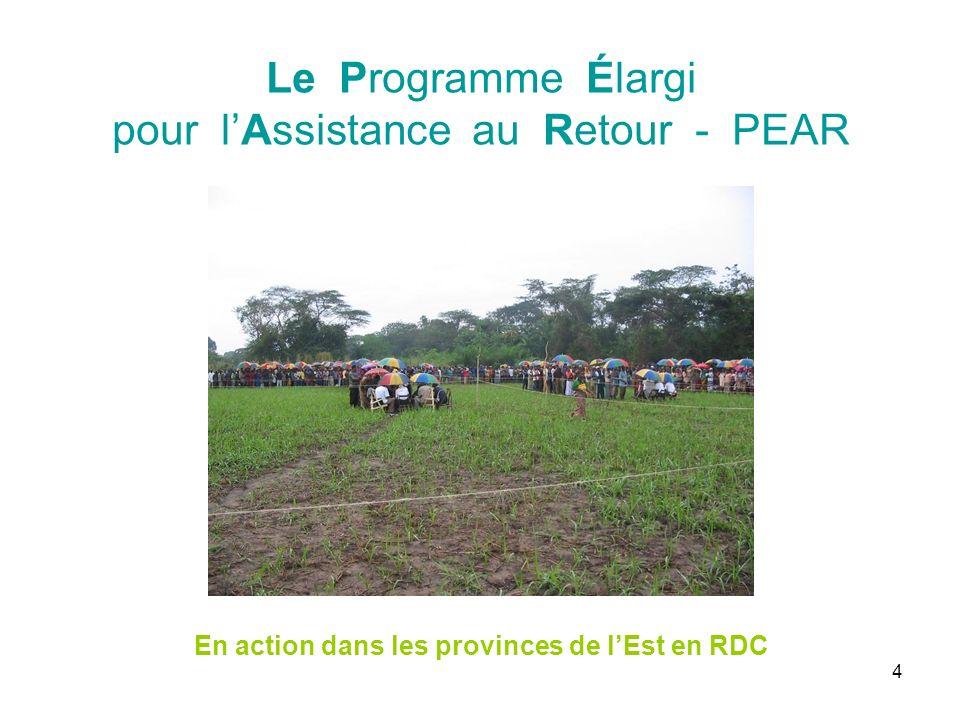 45 III. Information sur linitiative PEAR Problème deau à Lwiko, Kabambare, dans lEst de la RDC
