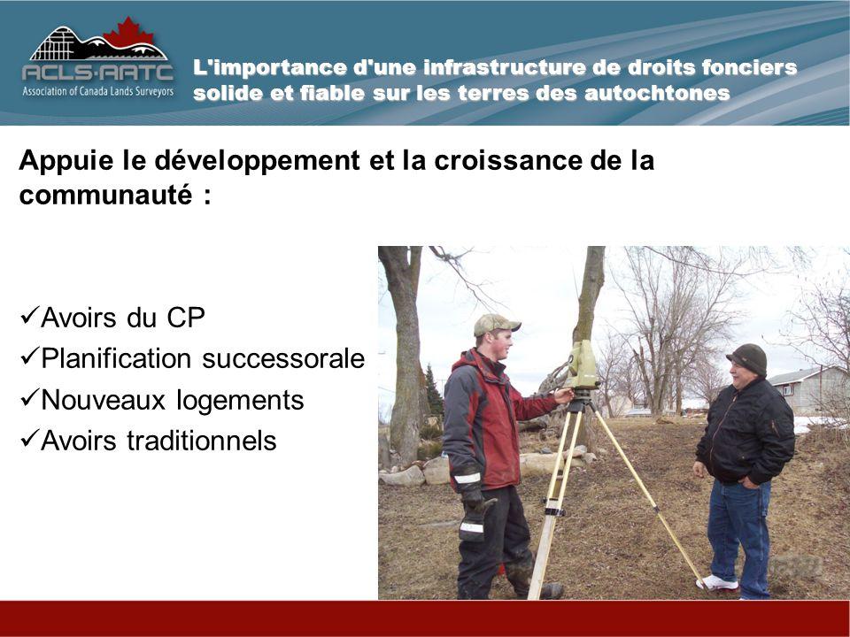 Une infrastructure de droits fonciers solide et fiable est la clé de l avenir de toute communauté durable !