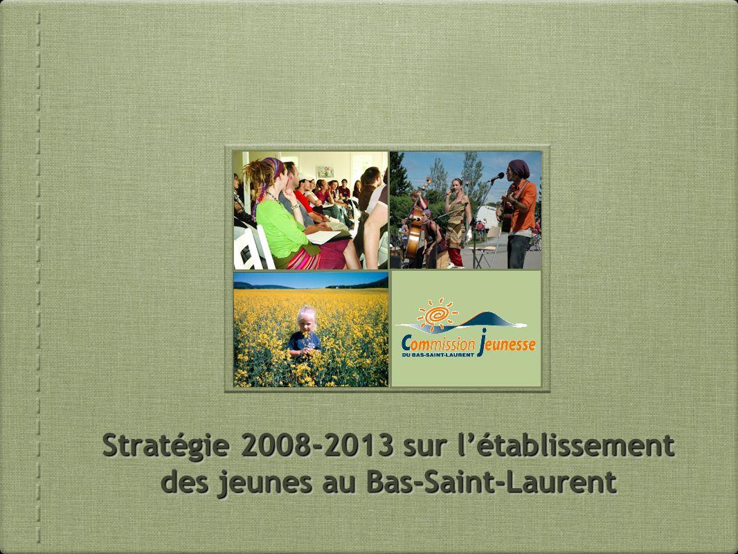 La Commission jeunesse du Bas-Saint-Laurent (CJBSL) Comité aviseur de la Conférence régionale des éluEs du Bas-Saint-Laurent (CRÉBSL) Composée de 18 jeunes de 15 à 30 ans éluEs dans nos 8 MRC Principaux mandats: concertation, participation citoyenne, gestion du Fonds régional dinvestissement jeunesse (FRIJ)