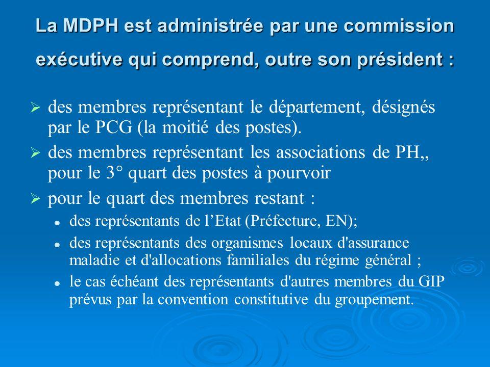 La maison départementale des personnes handicapées (MDPH) Cest un GIP (Groupement dintérêt Public) Cest un GIP (Groupement dintérêt Public) Placé sous