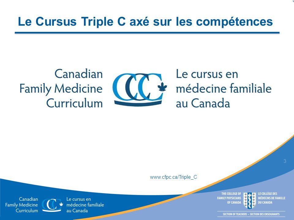 Le Cursus Triple C axé sur les compétences 3 www.cfpc.ca/Triple_C