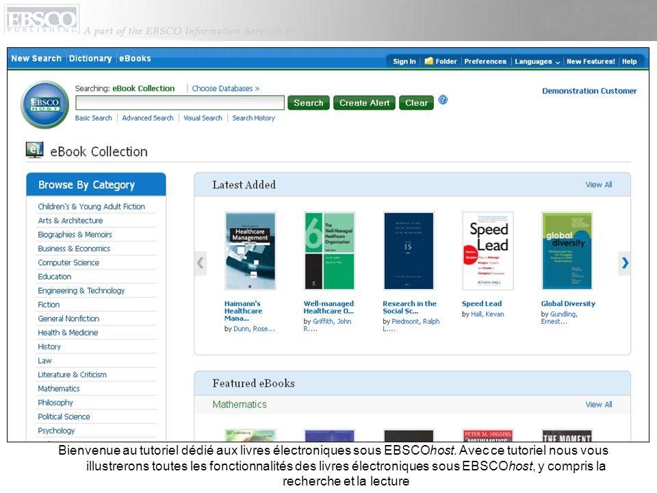Le livre est placé dans le dossier Holds (réservations) de votre compte Mon EBSCOhost.