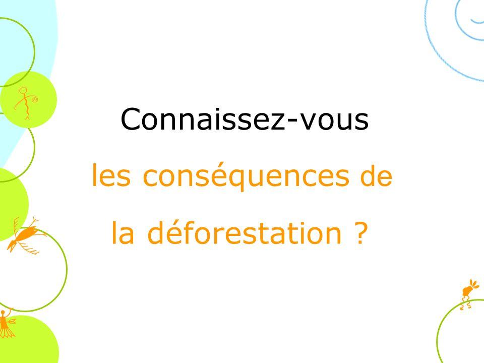 Connaissez-vous la déforestation ? les conséquences de