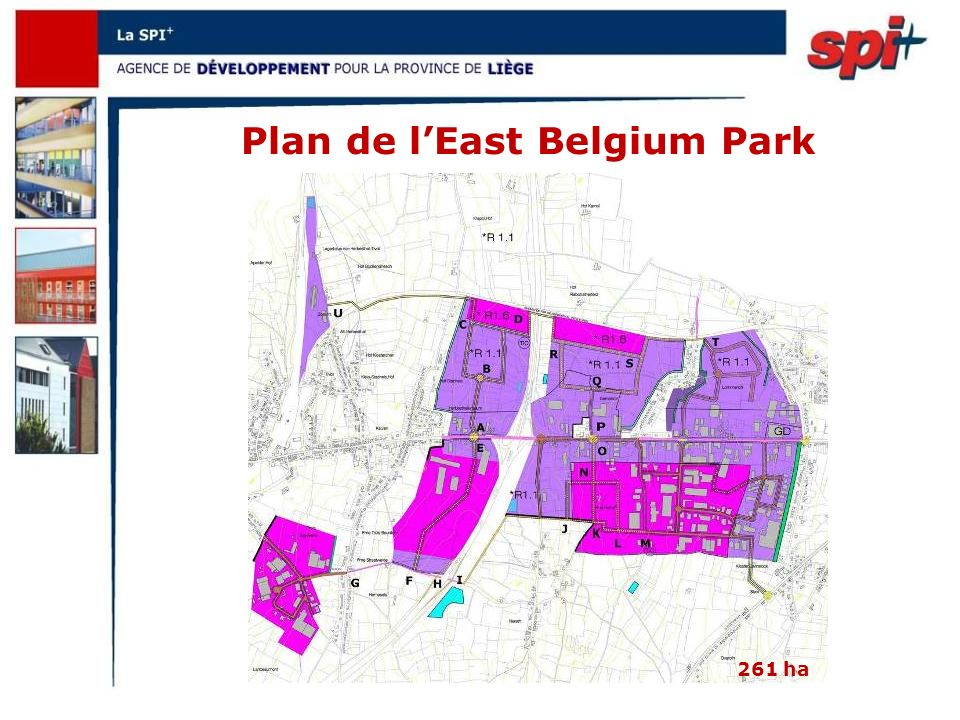 Plan de lEast Belgium Park 261 ha