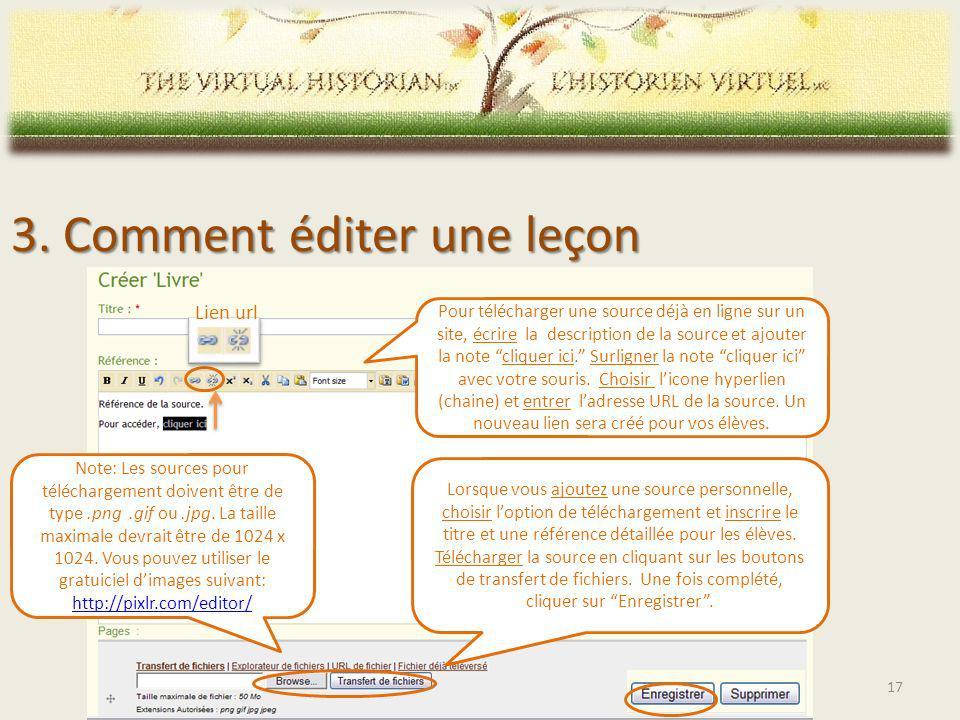 Lorsque vous ajoutez une source personnelle, choisir loption de téléchargement et inscrire le titre et une référence détaillée pour les élèves.
