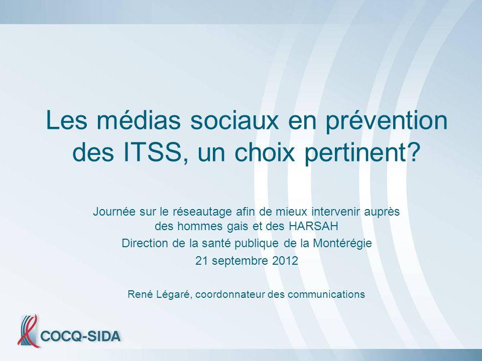 Les médias sociaux en prévention des ITSS, un choix pertinent.